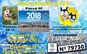 Cartel Loteria Calendarios 2018