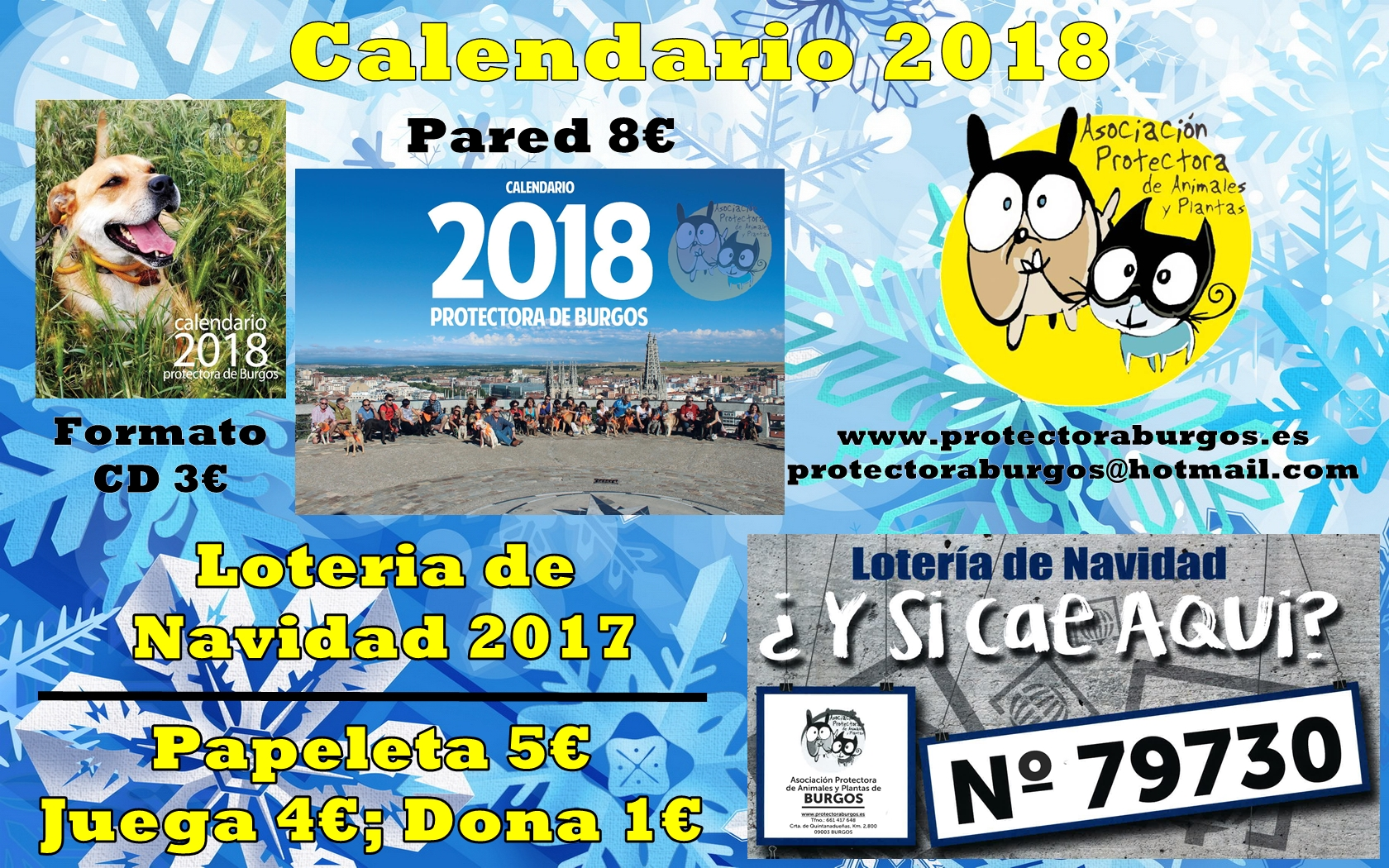 Cartel Loteria Calendarios 2018
